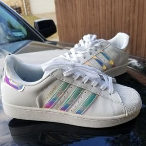 Adidas superstar Iridescent stripes